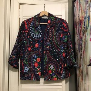 Vintage BEAUTIFUL Ugly 90s Flower PARTY Jacket 6P